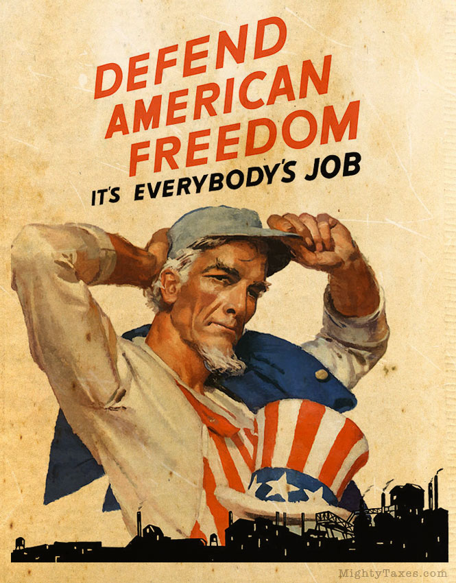 uncle sam defend freedom poster