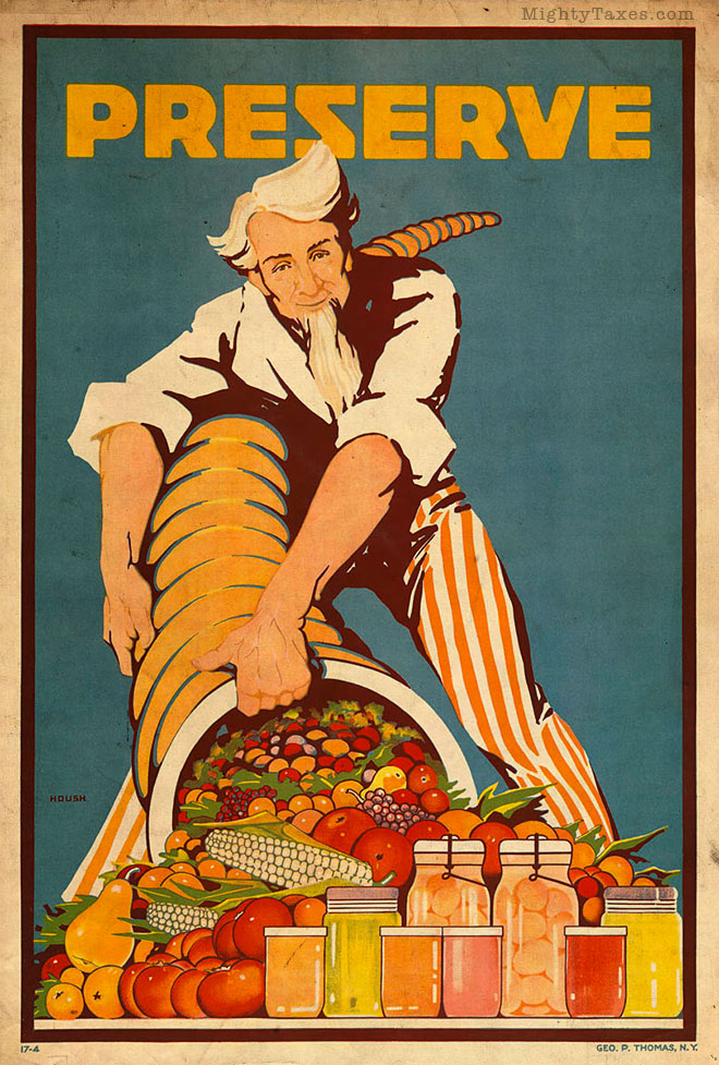 uncle sam poster preserve food