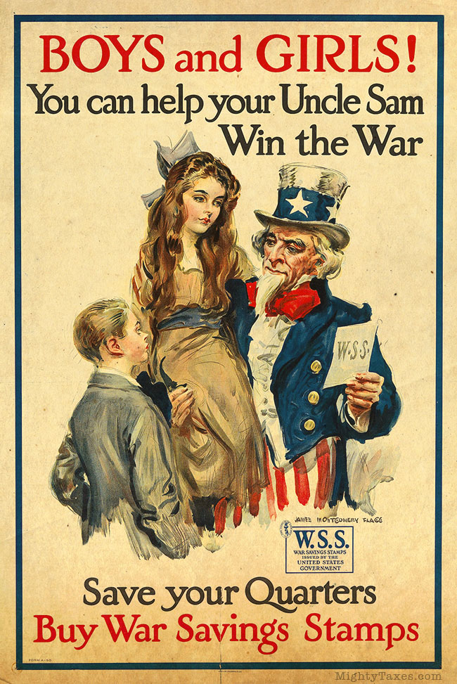 uncle sam with children poster