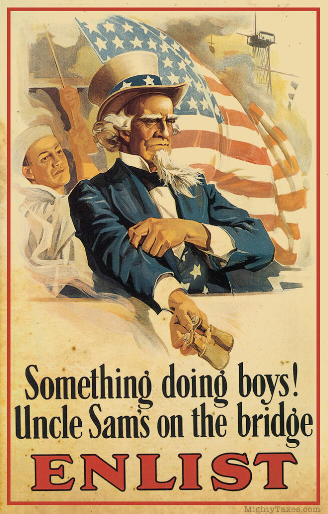 uncles sam propaganda poster rolling up sleeves