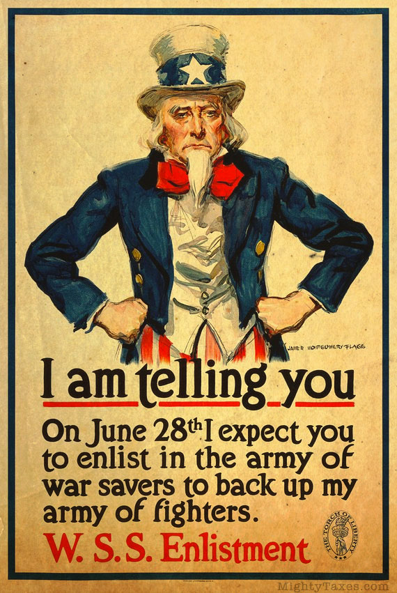uncle sam recruitment poster wwi