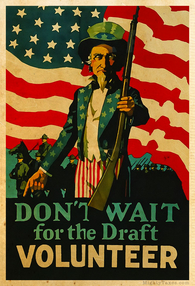 uncle sam recruitment poster volunteer wwi