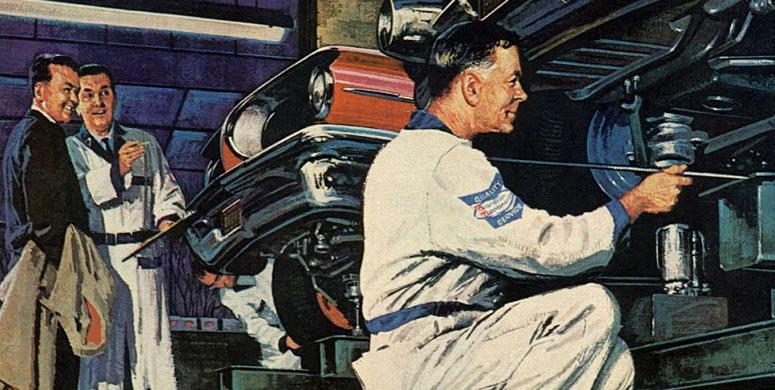 vintage mechanic car
