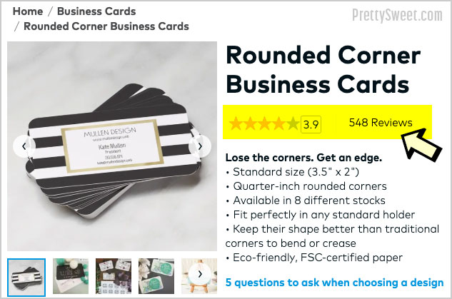 vistaprint business cards customer reviews