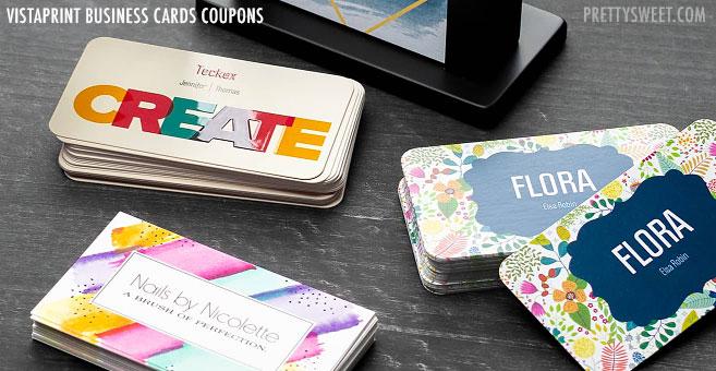 coupons business cards vistaprint