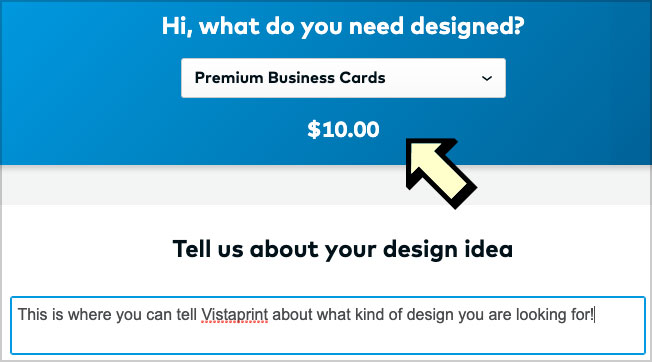 work with vistaprint designer option