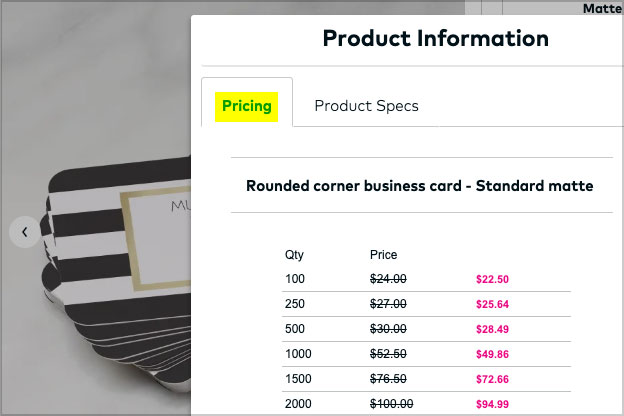 vistaprint premium business card pricing