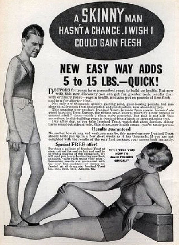 weight gain men vintage advert