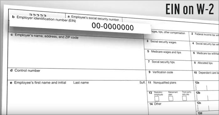 find ein on w-2 taxes