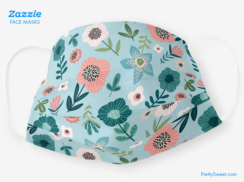 zazzle face covering flowers design
