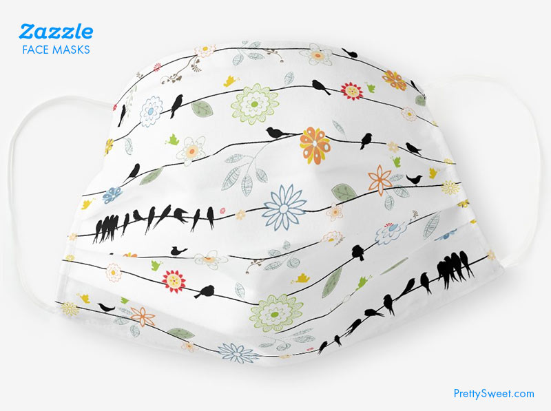 zazzle mask birds design