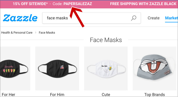zazzle face mask coupon
