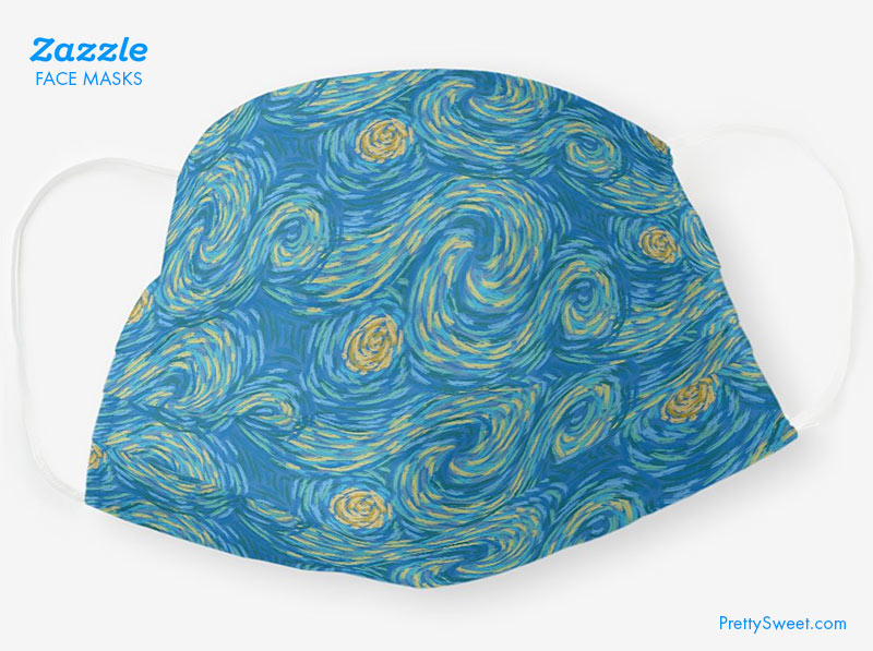 zazzle mask starry night