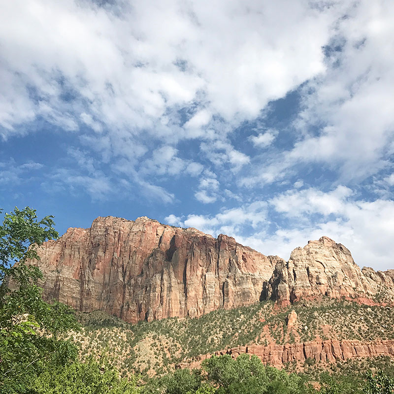 The Desert Pearl Inn is completely surrounded by Zion